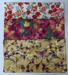 Flower Collection #11~Cotton Fabric Bundle,End of Bolt~1 Yds.,23 inches