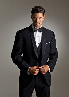 #SavviFormalwear Heritage by Ralph Lauren - Luxury wool, 1 button, Black, Shown with black accessories and luxe microfiber shirt.