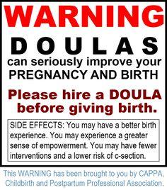 DOULAS can improve birth! #CAPPA #Doula #Birth
