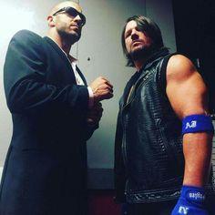 Cesaro & AJ Styles