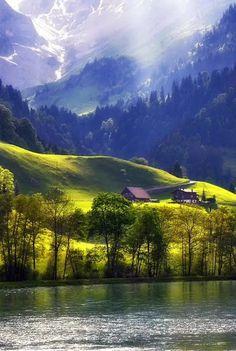 Lake Lungern , Switzerland.