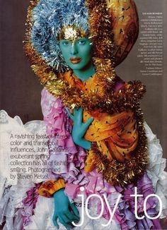 photographed by steven meisel, fashion editor: grace coddington fashion editorial #color #india