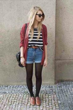 I'm not a huge fan of jean shorts for the most part, but I love the whole look in this case.