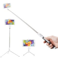 Monopod with tripod capability, $22.99 on Amazon Prime   Kootek® Extendable Wireless Bluetooth Monopod Selfie Stick Self Portrait Video Built-in Remote Shutter Button with Tripod Stand and Zoom In/Out Button for Samsung Galaxy S5 S4 S3 S2 Note 4 3 2, iPhone 6 6 Plus 5s 5c 5 4s 4, HTC One M8 M7 X, Google Nexus, Sony Xperia Z3 Z2