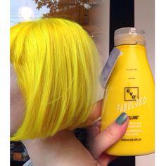 YELLOW HAIR. Used pravana hair color &I made an EVO Custom conditioner Yellow Hair Color, Hair Color And Cut, Hair Colours, Hair Cut, Funky Hairstyles, Pretty Hairstyles, Hair Inspo, Hair Inspiration, Pravana Hair Color