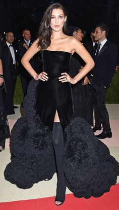 Riccardo Tisci's Most Memorable Givenchy Gowns - Bella Hadid, 2016 Met Gala