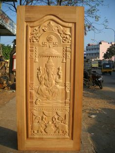 Tamilnadu house main door designs - House and home design Single Main Door Designs, House Main Door Design, Wooden Front Door Design, Pooja Room Door Design, Wooden Front Doors, Door Design Images, Wood Carving Designs, Home Design, Bed Design