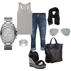 Shades of Grey., created by leilanigonzalez on Polyvore