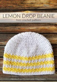 Lemon Drop Beanie Crochet Pattern (CAL for a Cause) Crochet Alpi , Lemon Drop Beanie Crochet Pattern (CAL for a Cause). Easy Crochet Hat, Crochet Cap, Crochet Beanie, Free Crochet, Crochet Dolls, Crocheted Hats, Disney Crochet Patterns, Crochet Designs, Fabric Dolls