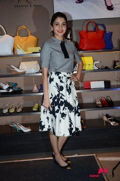 Anushka Sharma promotes NH10 at Charles and Keith store