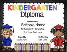 Free Printable Preschool Diploma Graduation Preschool