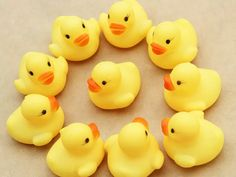 Discount Hot Sale 4x4cm Cute Baby Girl Boy Bath Bathing Classic Toys Rubber Race Squeaky Ducks Yellow From China | Dhgate.Com