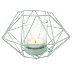 GREEN GEOMETRIC CANDLE HOLDER