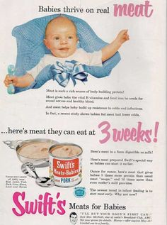 This is massively disgusting. The Most Bizarre Vintage Advertisements Ever - DesignTAXI.com