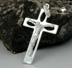 Anhänger, Kreuz mit Jesus, Silber 925 Dreambase, http://www.amazon.de/dp/B00H2IIB4K/ref=cm_sw_r_pi_dp_x.Uitb01TMH2Q