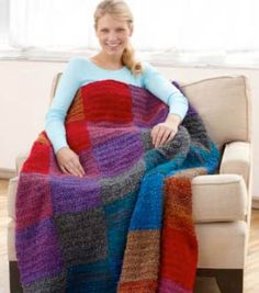 Cuddle up in this crocheted sunset throw on a cold Winter day!