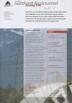 Der Gotthard-Basistunnel. Amsteg