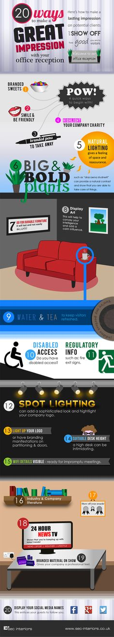 20 Ways to Create an Impressive Office Reception Area (Infographic)