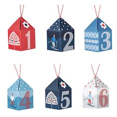 Buy John Lewis Chamonix Advent Boxes, Set of 24 Online at johnlewis.com