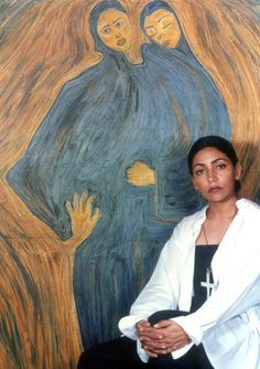 Deepti Naval with various paintings of hers Deepti Naval, Evergreen, Horror, Tumblr, Creative, Paintings, Muse, Bollywood, Films
