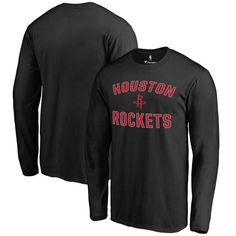 Houston Rockets Fanatics Branded Big & Tall Victory Arch Long Sleeve T-Shirt - Black - $34.99