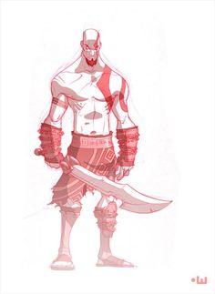 Kratos   God of War   t-wei/Tien Hee commission