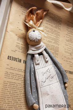 anioły i figurki-Wielkanocny Zając no.1 Easter bunny salt dough