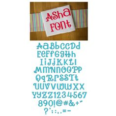 "Asha - .75"", 1"", 1.25"", 1.25"", 1.75"" & 2""; Upper, Lower, Numbers & Punctuation"