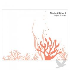 Wedding Programs - Coral Wedding Bulletin