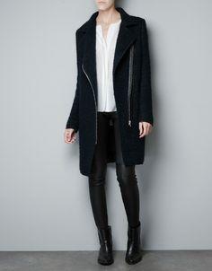 BOUCLE WOOL STUDIO COAT - Coats - Woman - ZARA Denmark