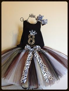 Animal print birthday outfit pick your number by TouchdownTutus, $44.00