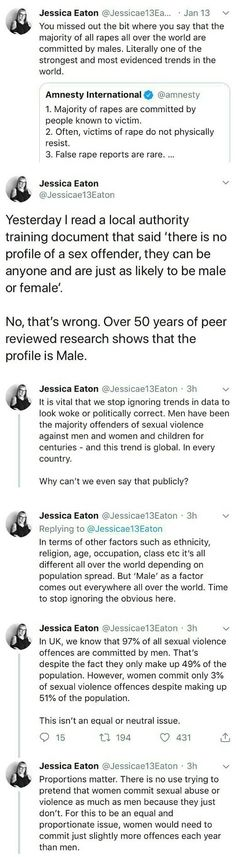 That last point is surreal to have pointed out, especially when you realize that the reason is that most rapists are serial offenders. That means that there are a huge number of men out there raping multiple people over their lives. Intersectional Feminism, Anti Racism, When You Realize, Patriarchy, Faith In Humanity, Oppression, Social Justice, In This World, Equality