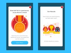 Rewards Pop Up Screens designed by Ibnu Mas'ud. Connect with them on Dribbble; Ios App Design, Web Design, Game Ui Design, Mobile Application Design, Mobile Ui Design, App Badges, Pop Up Screens, Game Interface, Ui Web