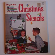 Vintage 1962 Whitman Christmas Holiday Crafts Stencil Book  #Whitman