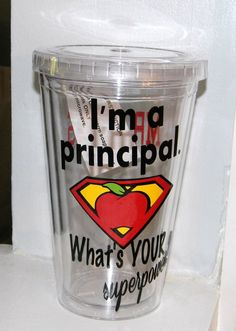 Personalized Principal Teacher Gift tumbler by dreamingdandelions, $10.00