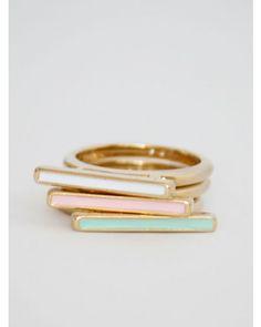 mickey's girl: color block rings