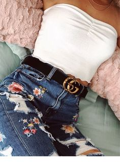 0bad3ecafde 15 Best White Crop Top Outfit images | Stylish clothes, Fashion ...