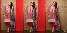 Khaadi+Collection+2017+Vol-1+Embroidered+Shirt+Lawn+Dupatta
