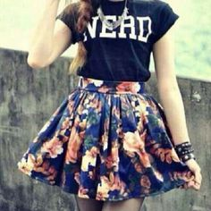 The skirt is so much pretty!
