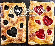 EASY Berry Slab Pie | Make pie the EASY way by piling delicious pie filling into puff pastry sheets!  #slabpie #berrypie #easydesserts
