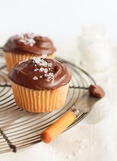 raspberri cupcakes: Chocolate, Olive Oil & Sea Salt Cupcakes
