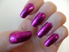 Essie Stroke of Brilliance over Kleancolor Metallic Fuchsia.