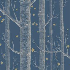 Cole & Son Whimsical_Woods & Stars 103-11052 Cole & Son behang wallpaper behangpapier behang woonkamer behang slaapkamer behang kinderkamer interieur design