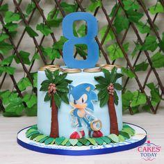 Sonic Birthday Cake, Sonic Cake, Sonic Birthday Parties, Novelty Birthday Cakes, Novelty Cakes, 5th Birthday, Cakes For Boys, Boy Cakes, Sonic The Hedgehog Cake