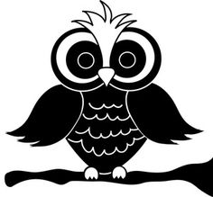 for Yudu party favors- link back to http://www.pamsclipart.com/clipart_images/black_and_white_owl_cartoon_0515-0908-1500-2622.html