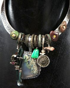 Sterling Silver, Oregon Moss Agate, Ammonite, Baby Geode, Chrysoprase, Dinosaur Bone, Native Copper, Tourmaline, Ancient Celtic Rings