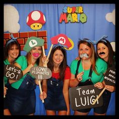 Super mario photo booth props #hensparty #digital #photoprops #photobooth