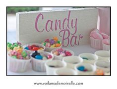 Individualized Candy Cups Quick and Easy
