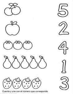 Simple Things You Need To Know When Home-schooling Your Kids Nursery Worksheets, Printable Preschool Worksheets, Kindergarten Math Worksheets, Preschool Learning Activities, Preschool Math, Kids Learning, Numbers Preschool, Math For Kids, Home Schooling