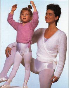 ladies cross over ballet top knitting pattern pdf by Hobohooks